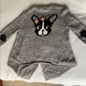 Super cute sweater with doggie on the back